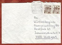Brief, Schloss Wolfsburg Zaehlnummer, MS Freilassing, Nach Stuttgart 1983 (92896) - Francobolli In Bobina