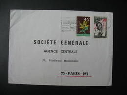 Lettre Thème Fleurs Organisation Mondiale De La Santé Sénégal 1969   Pour La Sté Générale En France  Paris - Senegal (1960-...)