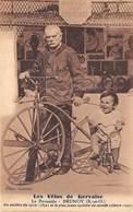 91-BRUNOY- LES VELOS DE GERVAISE, LA PYRAMIDE - UN ANCÊTRE DU CYCLE 1850, ET LE PLUS JEUNE CYCLISTE DU MONDE - Brunoy