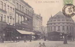 CPA 59 @ LILLE - La Place Du Théâtre En 1908 - Lille