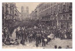 45 Orléans N°8 Fête De Jeanne D'Arc La Procession Musique De L'école D'Artillerie Instruments VOIR DOS Librairie Loddé - Orleans