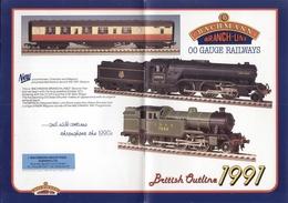 Catalogue BACHMANN Branch Line 00 Gauge Railways British Outline 1991 - Anglais