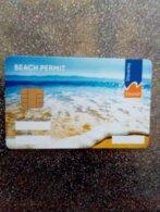 GB ECOSSE SCOTLAND STATIONNEMENT CARTE A PUCE CHIP CARD CARTE BEACH PERMIT WAVERLEY NEUVE MINT - France