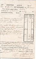 1815 - DOUANE De CHAMBÉRY Et FERNEY - LAISSEZ-PASSER De GENÈVE à MOREZ - Documents Historiques