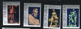 POLONIA (POLAND) - SG 2078.2081  - 1971 MODERN POLISH SCULPTURE      (COMPLET SET OF 4)    -   MINT** - 1944-.... Repubblica