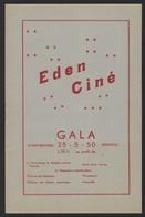 """OPENING CINEMA """" EDEN """" * LEUVEN * 1950 * 14 PP * VEEL RECLAME * 24 X 15.5 CM * LOUVIN * CINE EDEN - Programmes"""