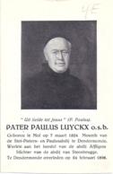 Bidprent - Luyckx Paulus (Mol 1824 - Dendermonde 1896): Monnik - Herstel Abdij Affligem - Stichter Abdij Steenbrugge - Images Religieuses