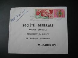 Lettre Thème Exposition Universelle D'Osaka  Sénégal 1970   Pour La Sté Générale En France Paris - Senegal (1960-...)