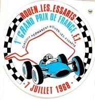 Autocollant De 1968 Circuit Automobile De Rouen Les Essarts 1er Grand PriX De France Formule 1 - Automobile - F1