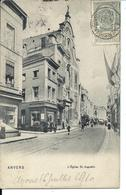 ANVERS Carte Ancienne 1910 - Rue De L' église Saint-Augustin - Vente Directe X - Antwerpen