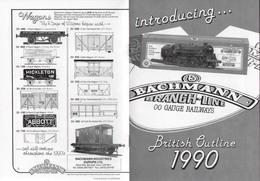 Catalogue BACHMANN BRANCH-LINE 1990 OO Gauge Railways British Outline - Anglais