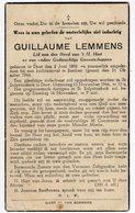 Bidprentje Oorlog Guerre War WOII Guillaume LEMMENS Diest + 21-10-1944 Bombardement Esschen - Images Religieuses