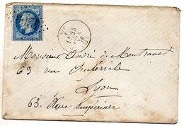 Isère - LSC Affr N° 29B Obl GC 4203 - Càd Type 16 Vif - 1849-1876: Période Classique