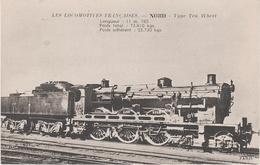 AK Les Locomotives Francaises Nord Type Ten Wheel Locomotive Machine No 3999 3888 3998 ? Chemin De Fer Train - Trains