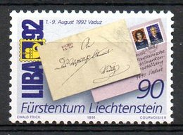 LIECHTENSTEIN. N°967 De 1991. Liba'92. - Philatelic Exhibitions