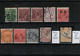 Australia - Small Lot Of Old Used Stamps -OS Perfins --CV 104 € - Officials
