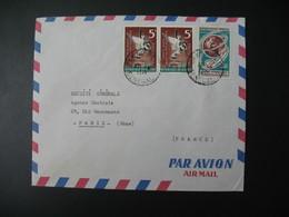 Lettre Thème Animaux Oiseaux - Journée De La Télécommunication Sénégal  1971 Pour La Sté Générale En France Paris - Senegal (1960-...)