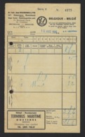 WAGONS LITS  // COOK * 1966 * BRUXELLES RUE BELLIARD * RECLAME HOTEL TERMINUS MARITIME OOSTENDE * 21.5 X 12.5 - Transport