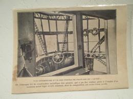 Intérieur Poste De Pilotage D'un Zeppelin LZ 127    - Coupure De Presse De 1928 - GPS/Aviación