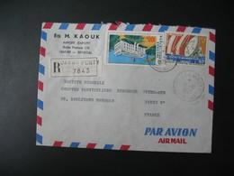 Lettre Thème Palais De La République Et Station Sénégal  1973  Pour La Sté Générale En France Bd Haussmann Paris - Senegal (1960-...)