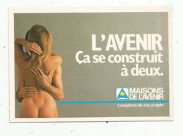 Cp, Publicité , Maisons De L'Avenir ,vierge , Couple - Advertising