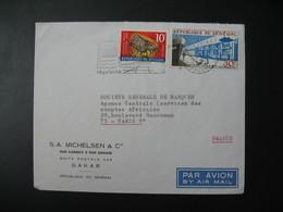Lettre Thème  Animaux Cigale Des Mers Complexe Thonier  Sénégal  1970  Pour La Sté Générale En France  Paris - Senegal (1960-...)