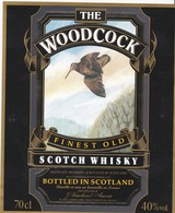 Superbe étiquette Whisky Thème Bécasse - Whilky Label The Woodcock - Whisky
