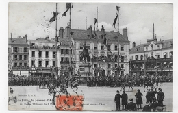 (RECTO / VERSO) ORLEANS EN 1912 - LES FETES DE JEANNE D' ARC - N° 21 - REVUE MILITAIRE - BEAU CACHET - CPA - Orleans