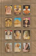 UAE - Sharjah - ( Complete Sheet - Egyptian Art - Egyptology ) - MNH (**) - Aegyptologie