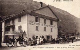 CPA ENTREMONT HOTEL DU BORNE LA FACADE CARTE POSTALE 74 ANCIENNE - France