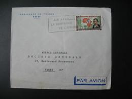 Lettre  Thème  Première Sous-commission Du Plan Pour L'Afrique Sénégal 1962  Pour La Sté Générale En France Paris - Senegal (1960-...)