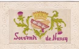 ¤¤  -  Souvenir De  NANCY   -  Carte Fantaisie à Système  -  Carte Brodée   -   Fleurs   -  ¤¤ - Nancy