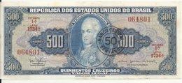 BRESIL 500 CRUZEIROS ND1967 UNC P 186 - Brazilië