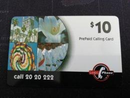 BERMUDA  $10,-  BERMUDA    LOGIC  CALL 2020222    PREPAID CARD  Fine USED  **1245** - Bermuda