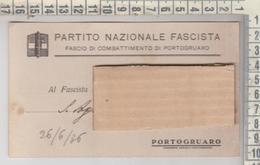 PORTOGRUARO VENEZIA CARTOLINA FASCIO DI COMBATTIMENTO 1936 - Venezia (Venice)
