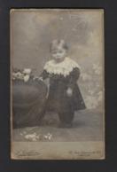 CDV * BABY * KLEIN MEISJE * FOTO LOIS COLLIN * AALST * RUE LONGUE DE SEL * 1900 - 1910 - Personnes Anonymes