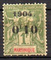 Col17  Colonie Martinique  N° 58 Neuf X MH Cote 30,00€ - Neufs