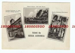 SESSA AURUNCA - MULTIVEDUTE F/GRANDE VIAGGIATA 1950 ANIMATA - Caserta