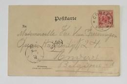 Cartolina Postale Da Coblenz Per Anvers (B) - Anno 1899 - Brieven En Documenten