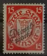 DANTZIG TIMBRE DE SERVICE DIENST N° 40 COTE 20 € NEUF * MH. 1924-1925 TB - Danzig