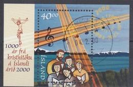 +Iceland 2000. Christianity 1000 Years. Bloc. Michel 941. AFA 927. Cancelled - Blocks & Sheetlets