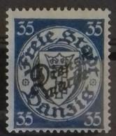 DANTZIG TIMBRE DE SERVICE DIENST N° 44 COTE 50 € NEUF * MH. 1924-1925 TB - Danzig