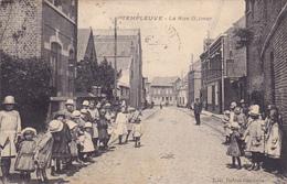 CPA 59 @ TEMPLEUVE - La Rue Delmer - L'école De Filles - Edition Dubus Dhalluin - Autres Communes