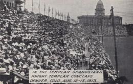 Denver Colorado, Knight Templar Conclave, Templar Grandstand C1910s Vintage Postcard - Denver