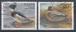 +Iceland 1997. Birds. AFA 847-48. Cancelled - 1944-... Republique