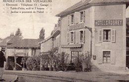 CPA HOTEL GROSREY RENDEZ VOUS DES VOYAGEURS GEX AIN CARTE POSTALE 01 ANCIENNE - Gex