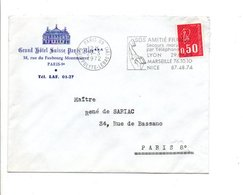 LETTRE A EN TETE D'HOTEL DE PARIS 09 1972 - 1961-....