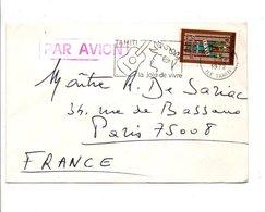 POLYNESIE LETTRE POUR LA FRANCE 1972 - Polynésie Française