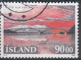 +Iceland 1993. Bridge. AFA 774. Cancelled - 1944-... Republique