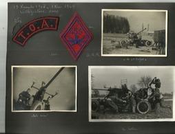 Insigne Tissu  Cadre T O A 1945 1950 LE POILU ..ET INSIGNE  ARTILLERIE ANTIAERIENNE PLUS 30 PHOTOS - Ecussons Tissu